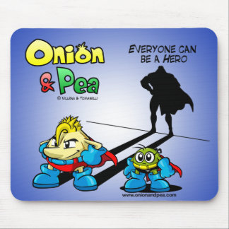 Everyone dog sees Hero Onion & Pea mousepad. Mouse Pad