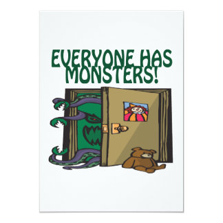 Everyone Has Monsters 5x7 Paper Invitation Card