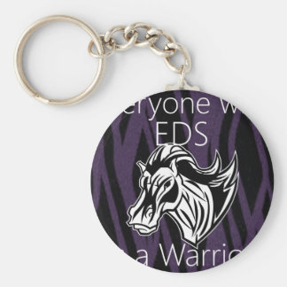 Everyone is a warrior.png basic round button keychain