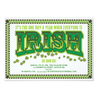 Everyone is Irish St. Patrick's Day Party Card