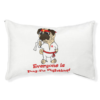 Everyone Is Pug-Fu Fighting! Dog Bed