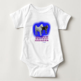 Everyone is taught that angels have wings. baby bodysuit