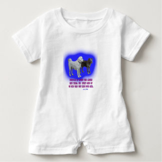 Everyone is taught that angels have wings. baby romper