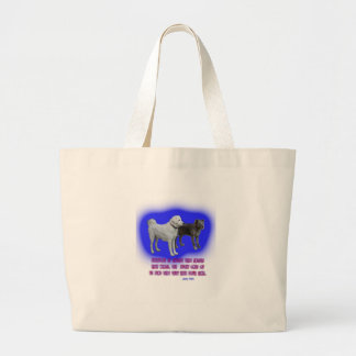Everyone is taught that angels have wings. large tote bag
