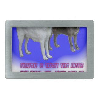 Everyone is taught that angels have wings. rectangular belt buckles