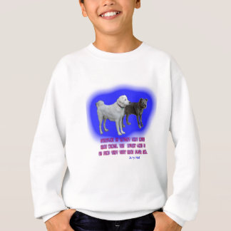 Everyone is taught that angels have wings. sweatshirt