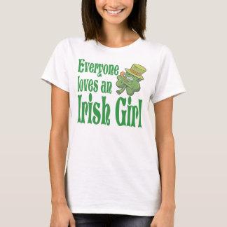 Everyone L oves An Irish Girl Shamrock T-Shirt
