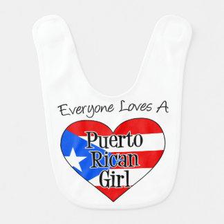 Everyone Love A Puerto Rican Girl bib