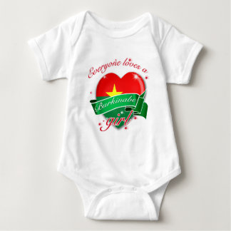 Everyone Loves A Burkinabe Girl Baby Bodysuit