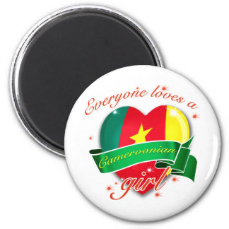 Everyone Loves a Cameroonian girl 2 Inch Round Magnet