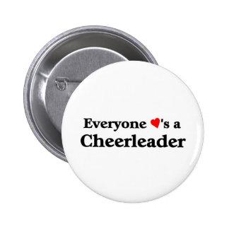 Everyone loves a cheerleader 2 inch round button