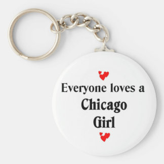 Everyone loves a Chicago Girl Basic Round Button Keychain