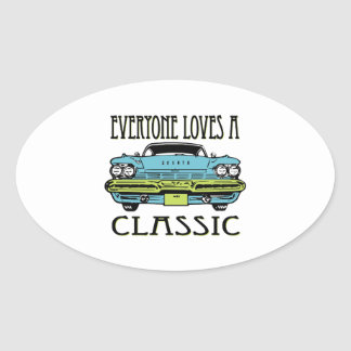 Everyone Loves a Classic Oval Stickers