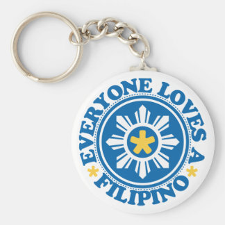 Everyone Loves a Filipino - Blue Keychain