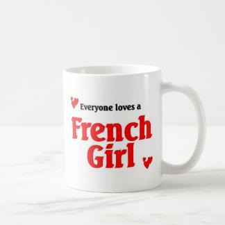 Everyone loves a french girl coffee mug