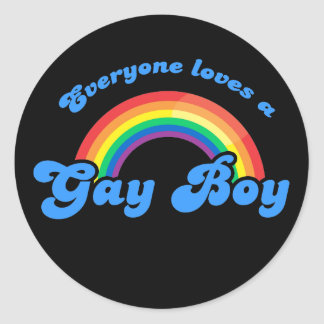 Everyone loves a Gay Boy Sticker