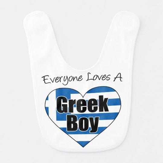 Everyone Loves A Greek Boy Bib