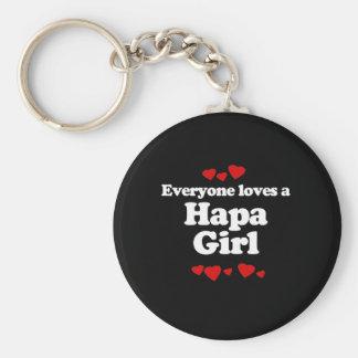 Everyone Loves a Hapa Girl T-shirt Keychain