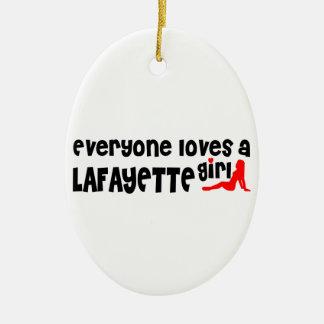 Everyone loves a Lafayette girl Ceramic Ornament