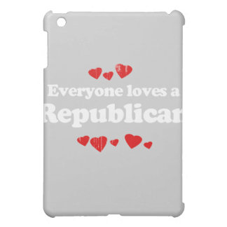 Everyone loves a Republican white Faded png Cover For The iPad Mini