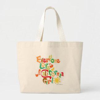 Everyone Loves California Girls Large Tote Bag