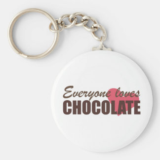Everyone Loves Chocolate Basic Round Button Keychain