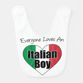 Everyone Loves Italian Boy Bib