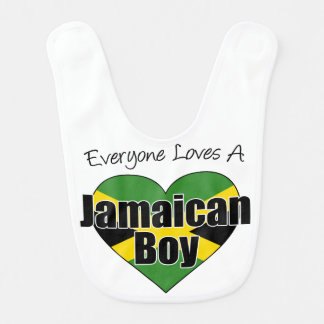 Everyone Loves Jamaican Boy bib