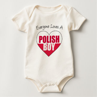 Everyone Loves Polish Boy Baby Bodysuit