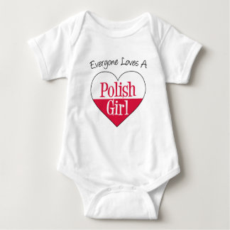 Everyone Loves Polish Girl Baby Bodysuit