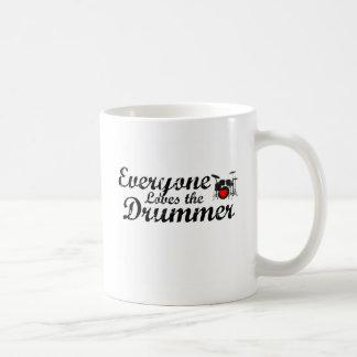 Everyone Loves The Drummer Classic White Coffee Mug