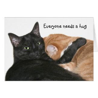 Everyone needs a hug card