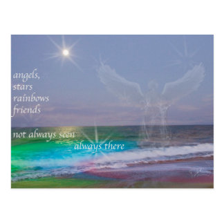 Everyone Needs Friends and Angels, postcard