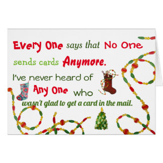 Everyone, no one, any one Christmas Card
