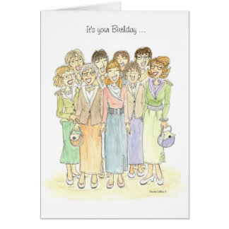 Everyone Says Birthday Card