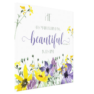 Everything Beautiful - Ecc 3:11 Canvas Print