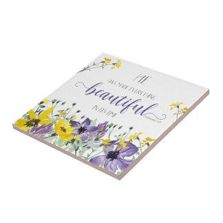 Everything Beautiful - Ecc 3:11 Ceramic Tile