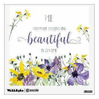 Everything Beautiful - Ecc 3:11 Wall Sticker