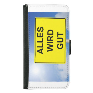 Everything becomes property sign with sky samsung galaxy s5 wallet case