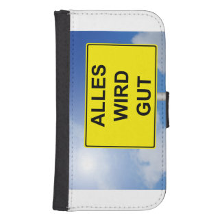 Everything becomes property sign with sky samsung s4 wallet case