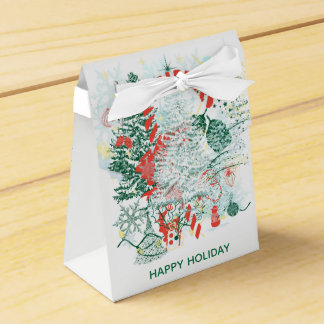 Everything Christmas Red Green White Holiday Favor Box