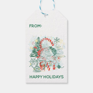 Everything Christmas Red Green White Holiday Gift Tags