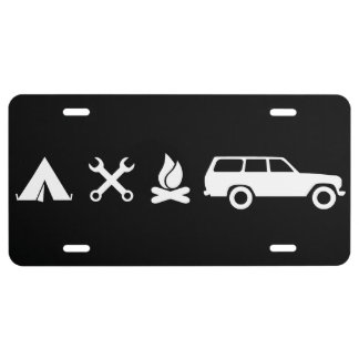 Everything FJ60 Icon License Plate - Black