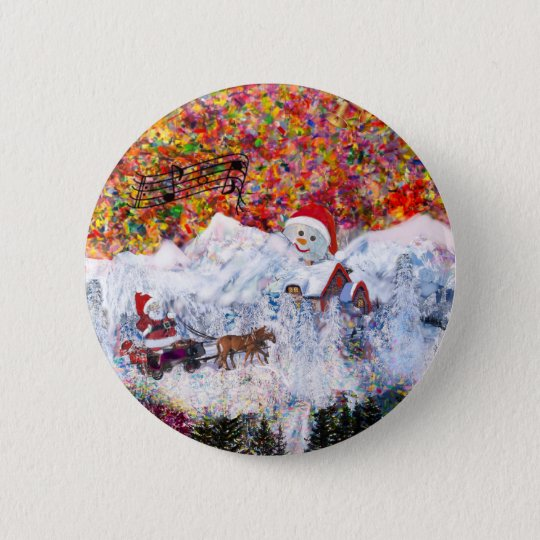 Everything happens during Christmas time 2 Inch Round Button