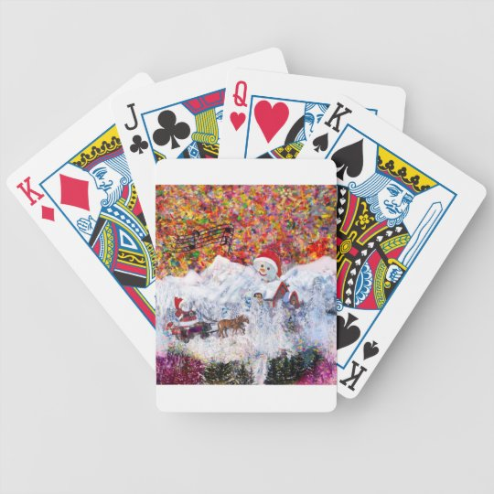 Everything happens during Christmas time Bicycle Playing Cards