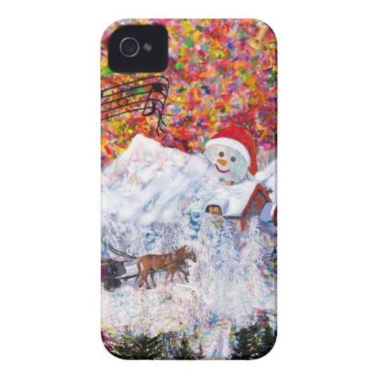 Everything happens during Christmas time Case-Mate iPhone 4 Cases