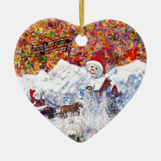 Everything happens during Christmas time Ceramic Ornament