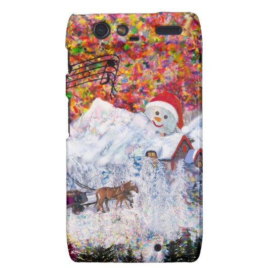 Everything happens during Christmas time Droid RAZR Case