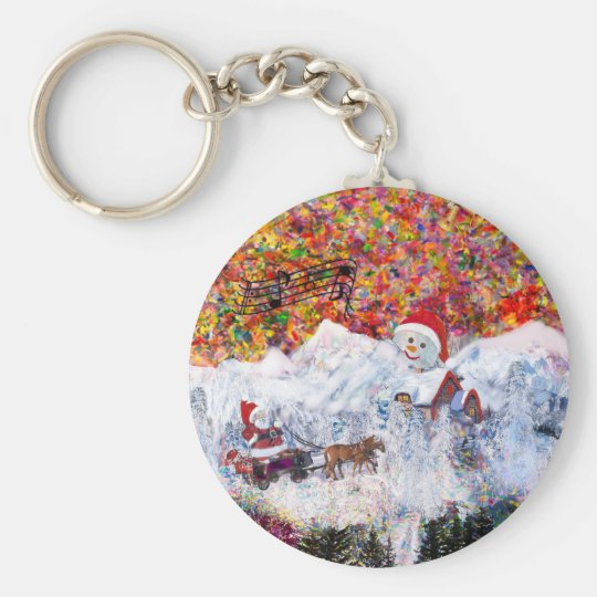Everything happens during Christmas time Keychain
