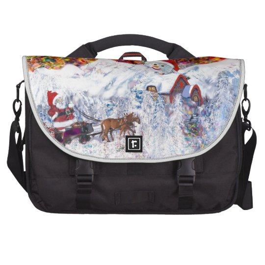 Everything happens during Christmas time Laptop Shoulder Bag